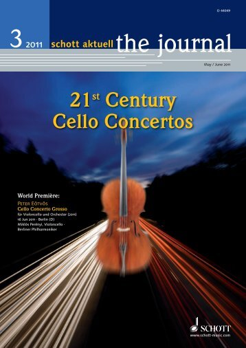 21st Century Cello Concertos - Schott Music
