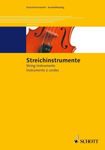 Dieser Katalog zum Download / This catalogue for ... - Schott Music