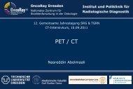 15.00–15.30 Uhr PET/CT N. Abolmaali / Dresden