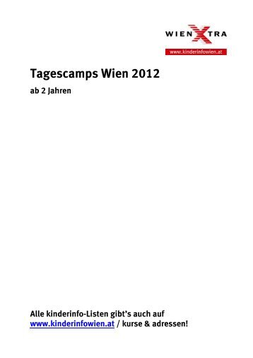 Tagescamps Wien 2012 ab 2 Jahren - Kinderinfo