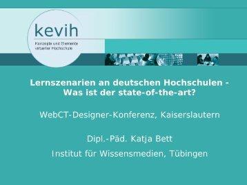 Lernszenarien an deutschen Hochschulen - Was ist der ... - VCRP