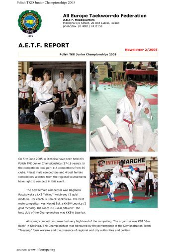 Belgian aetf report all europe taekwon do federation fandeluxe Choice Image
