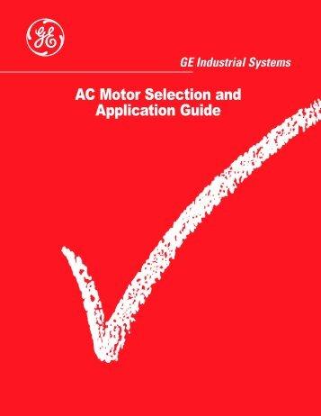AC Motor Selection and Application Guide - Dreisilker Electric Motors