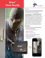 Orion™ Home Security - aJile Security - aJile Systems