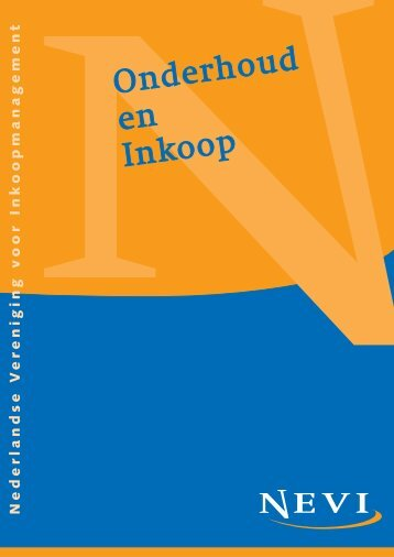 Publicatie Onderhoud en Inkoop - Nevi