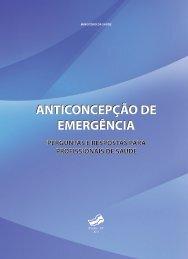 Anticoncepção de emergência - BVS Ministério da Saúde