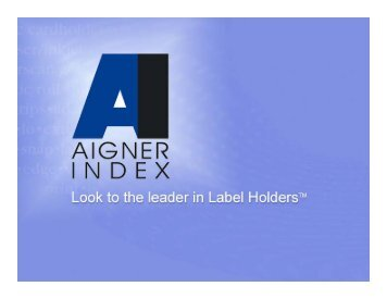 Aigner Label Holders, Labels