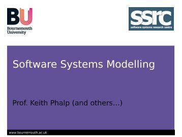 Software Systems Modelling - School of Design, Engineering, and ...