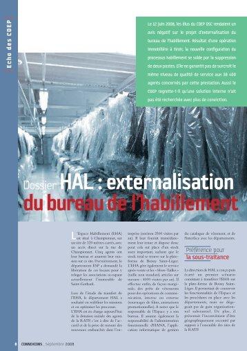 Dossier HAL : externalisation du bureaude l'habillement - Ratp