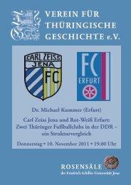 Dr. Michael Kummer (Erfurt) - Verein für Thüringische Geschichte