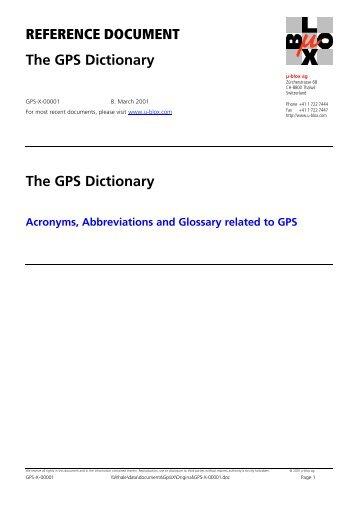 The GPS Dictionary - Zogg-jm.ch