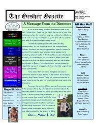 Volume 10 - Issue 3 - July 15, 2011 - Gesher Summer Camp