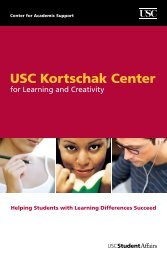 Kortschak Center for Learning and Creativity - USC Student Affairs ...
