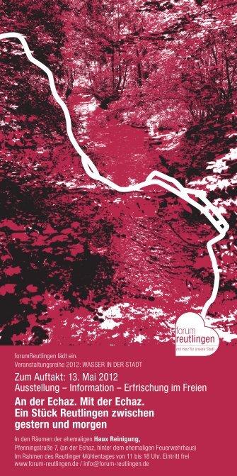 forum flyer wasser 2012.indd - forumReutlingen