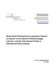 North-South Professional Co-operation Teacher- to-Teacher in the ...
