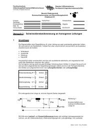 Versuch 3 - Fachhochschule Oldenburg/Ostfriesland/Wilhelmshaven