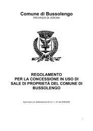 Regolamento per la concessione in uso di sale - Comune di ...