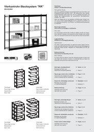 Vierkantrohr-Stecksystem