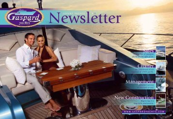 Sales Charter Management New Construction - Gaspard Yachts