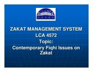 Contemporary Fiqhi Issues on Zakat