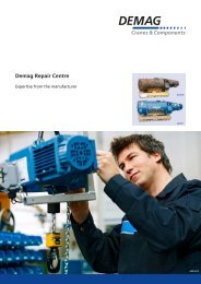 Demag Repair Centre - Demag Cranes & Components