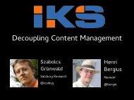 Decoupling Content Management - www2012