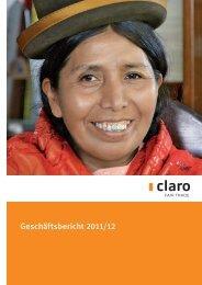 pdf Geschäftsbericht 11/12 - claro fair trade AG