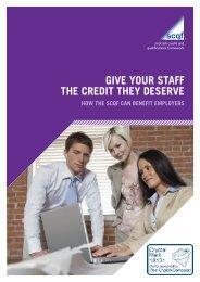 Employer Leaflet - Scottish Credit and Qualifications Framework