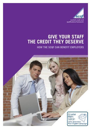 Employer Leaflet - Scottish Credit and Qualifications Framework