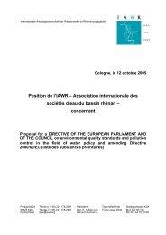 Position de l'IAWR – Association internationale des sociétés d'eau ...