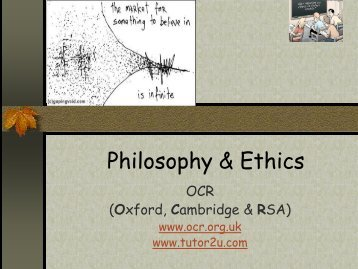 Philosophy & Ethics - The Blue School