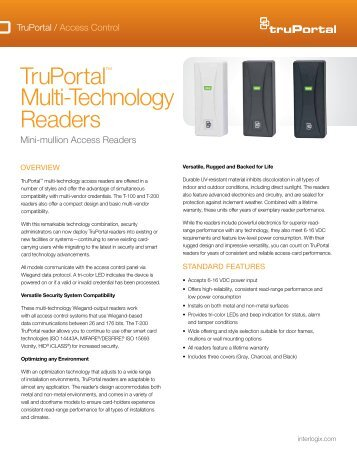 Transition Series Multi-Technology Readers Installation Manual