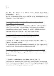 Liste der Briefe - Departments SLM