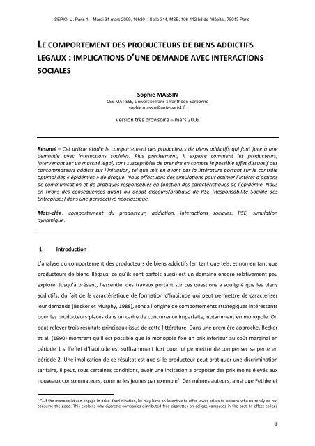 Télécharger - Centre d'Économie de la Sorbonne - Université Paris ...