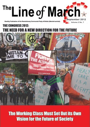 The Working Class Must Set Out its Own Vision for the Future of ...