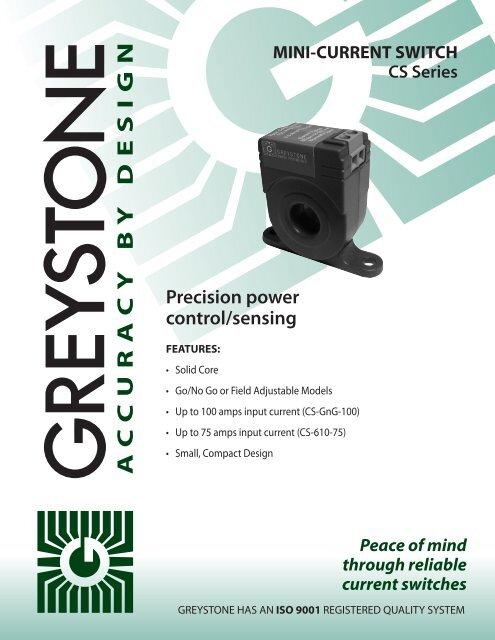 GREYSTONE CS-610-200 CURRENT SWITCH