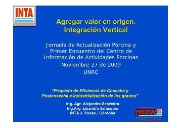Agregar valor en origen. Integración Vertical - Centro de Información ...