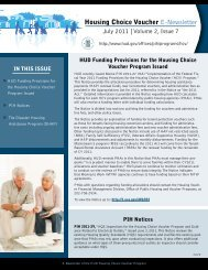 Housing Choice Voucher Newsletter - July 2011, Volume 2 ... - HUD