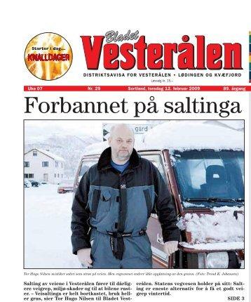 Les sidene 1 og 3 i Bladet Vesterålen, 12.02.2009, ved å ... - Nei til salt
