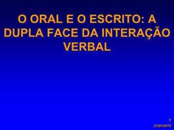 o oral eo escrito - Drb-assessoria.com.br