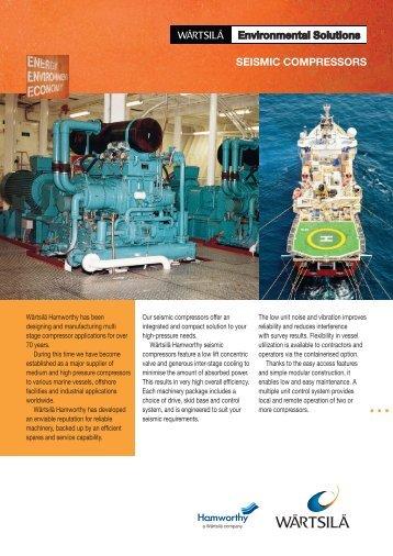 Wärtsilä Hamworthy Seismic Compressors