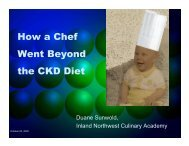 How a Chef Went Beyond the Chronic Kidney ... - BC Renal Agency