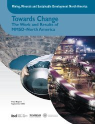 Towards Change - International Institute for Sustainable Development