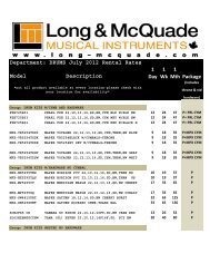 DRUMS July 2012 Rental Rates - Long & McQuade