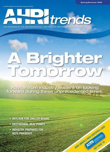 AHRI TrendsSpring/Summer 2009 Issue