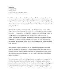 Chapel Talk January 18, 2004 Daniel T. Roach Remarks for Martin ...