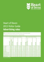 Visitor Guide Rate Card - Heart of Devon