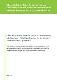Chancen für die biologische Vielfalt in der Landwirtschaft nutzen