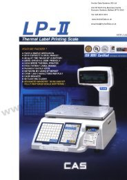 CAS LPII (2) Series Label Printing Weighing Scale - Anchor Data ...