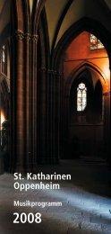 Konzerte - Evangelische Kirchengemeinde Oppenheim ...